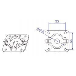 Soporte motor click Ø35mm