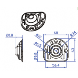 Rodamiento extraible soporte motor persiana